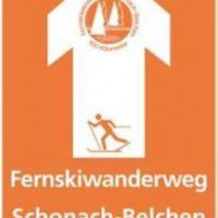 Wegweißer vom Fernskiwanderweg Schonach-Belchen