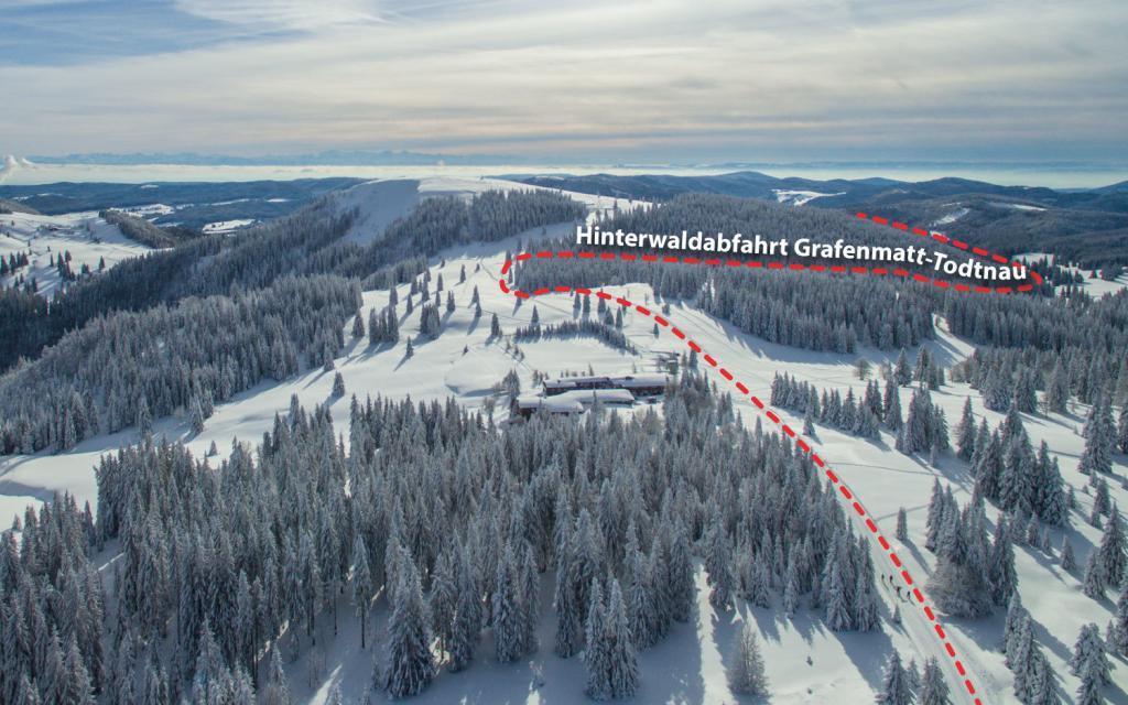 Вид с воздуха на трассу Хинтервальд