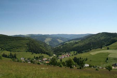 Vista dalle case alte di Muggenbrunn