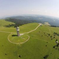 Luftaufnahme Feldberg mit Fernsehturm