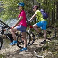 Mountainbikers aan de Feldsee
