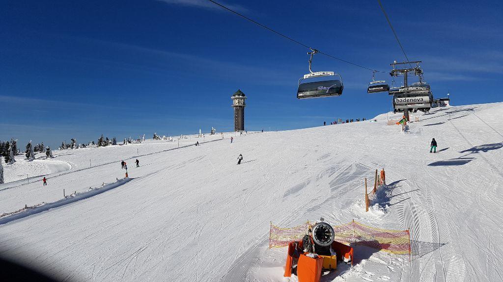 Wintersport op de Feldberg