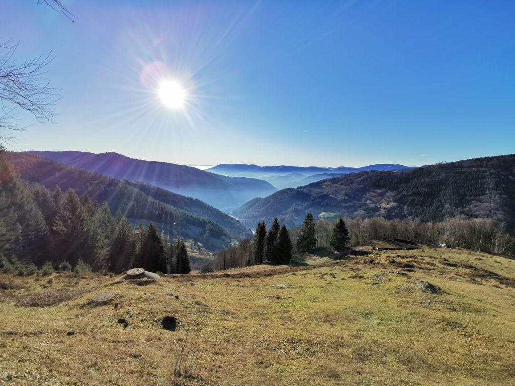 Vista sulla Foresta Nera meridionale