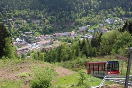 Bergstation der Zahnradbahn