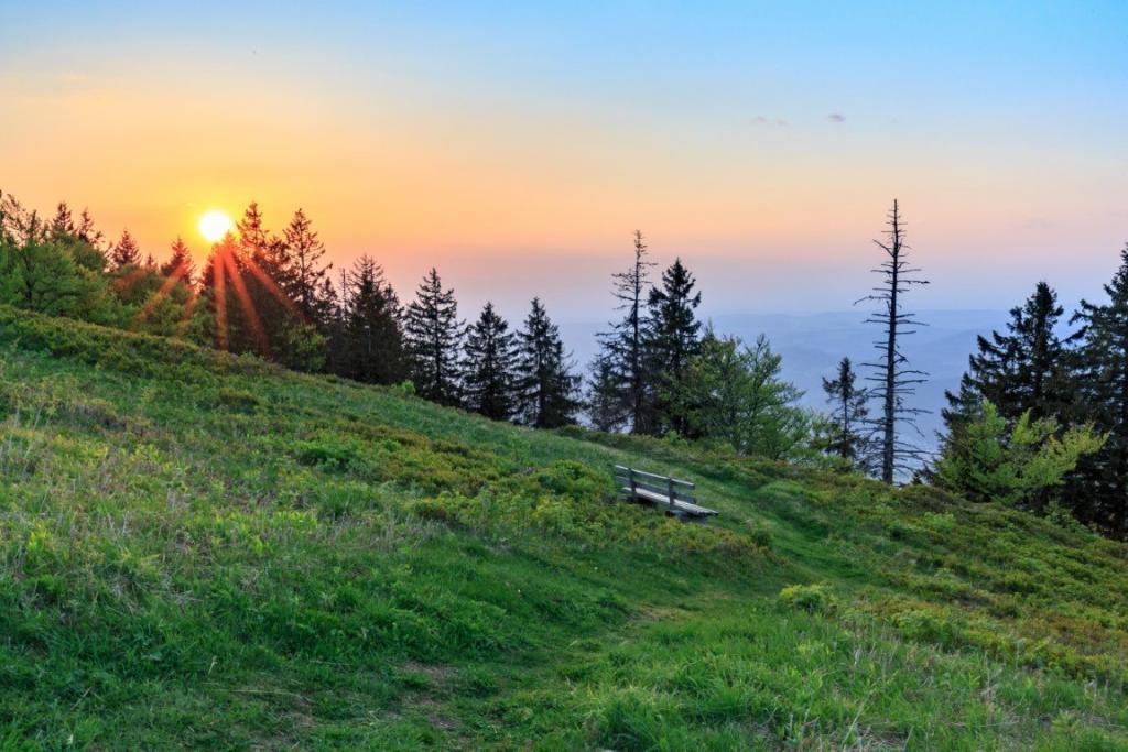 Coucher de soleil sur le Kandel