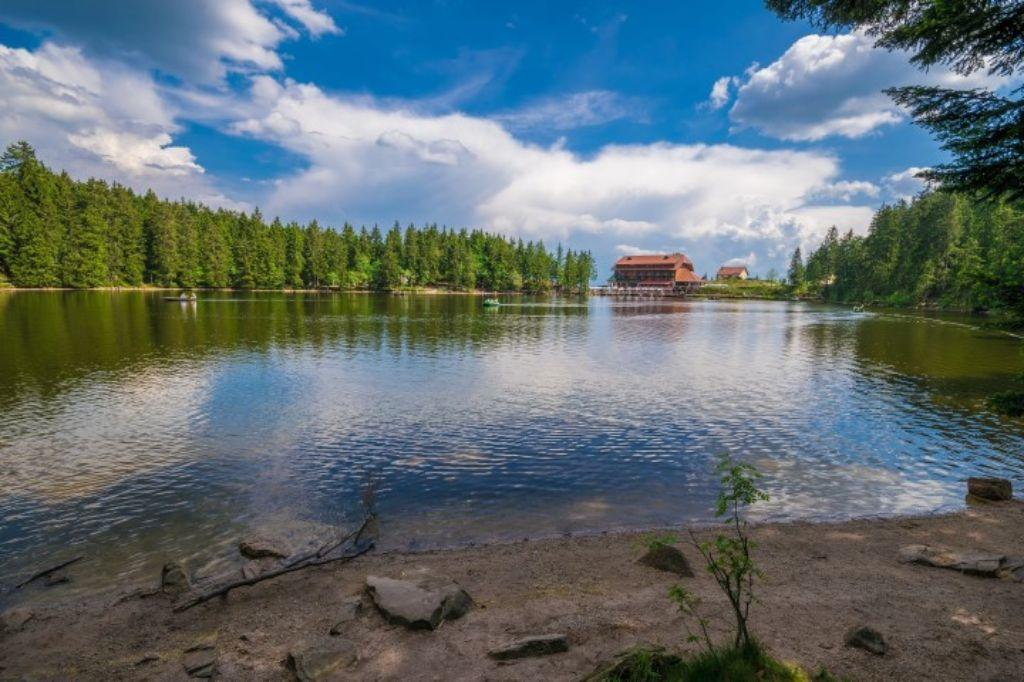 Mummelsee with hotel