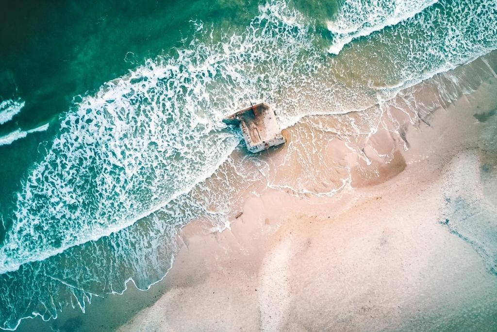 Der Blåvand Strand aus der Vogelperspektive.