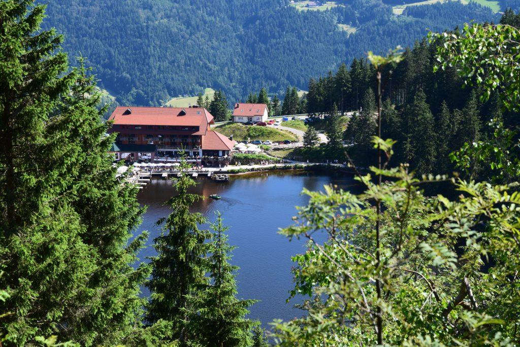 Mummelsee in the Northern Black Forest, Black Forest, Baden-Baden, B500,
