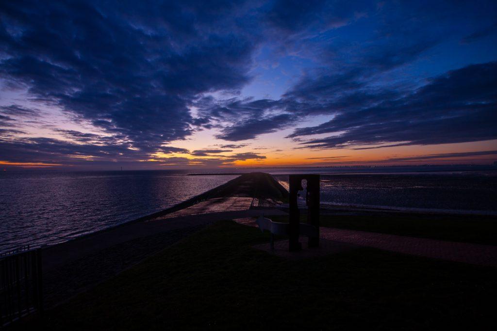 butjadingen, north sea, sunset