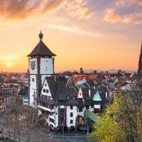 Freiburg bei Sonnenuntergang