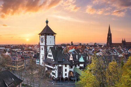 Fribourg au coucher du soleil