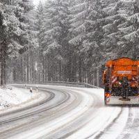Sneeuwploeg in het Zwarte Woud