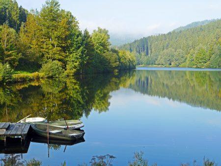 nagoldtalsperre, northern black forest, lake